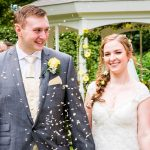 bride and groom confetti