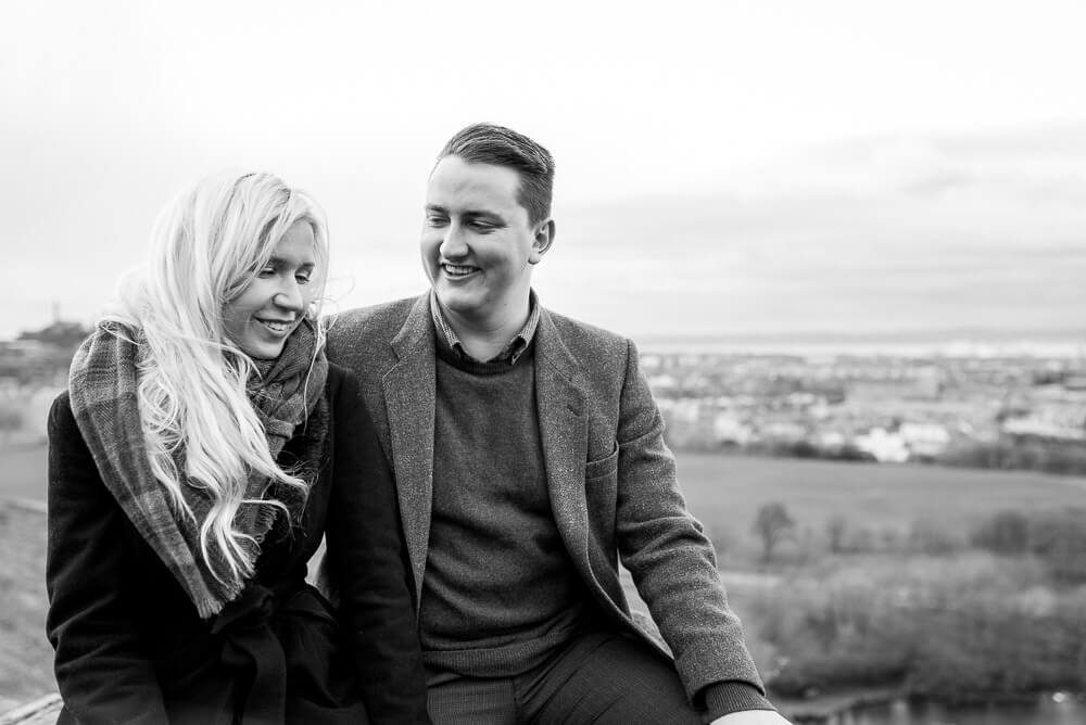 Edinburgh Engagement Photographer - Hilda & David