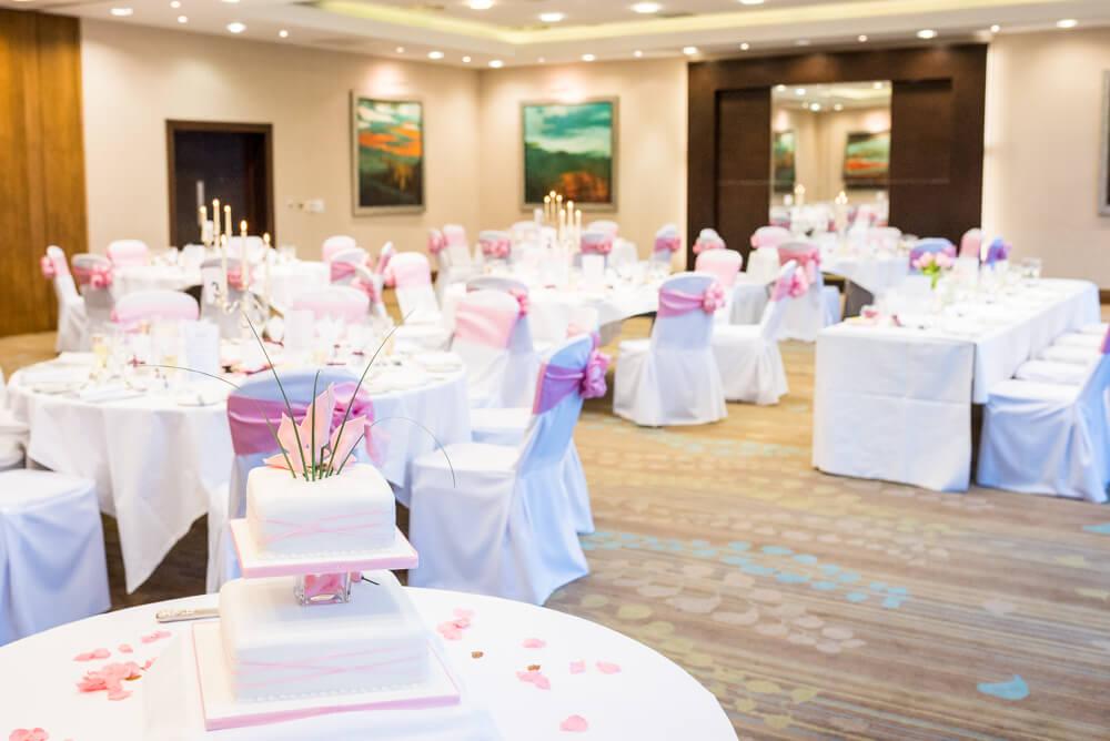 Norton Hotel wedding table set up