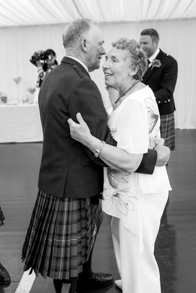 Gran and Granddad dancing at wedding