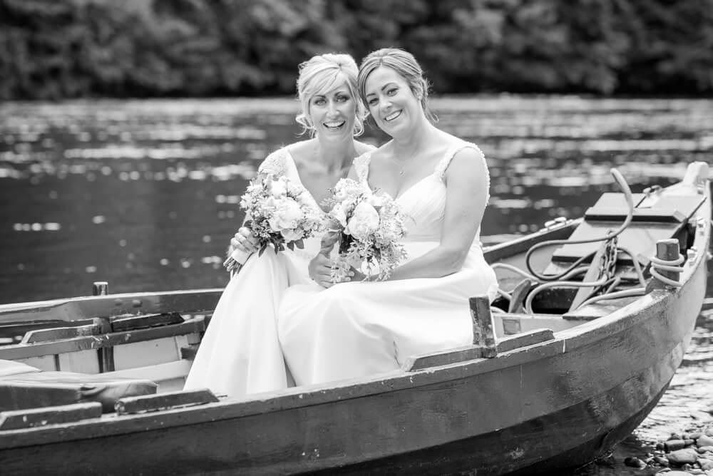 Brides on boat