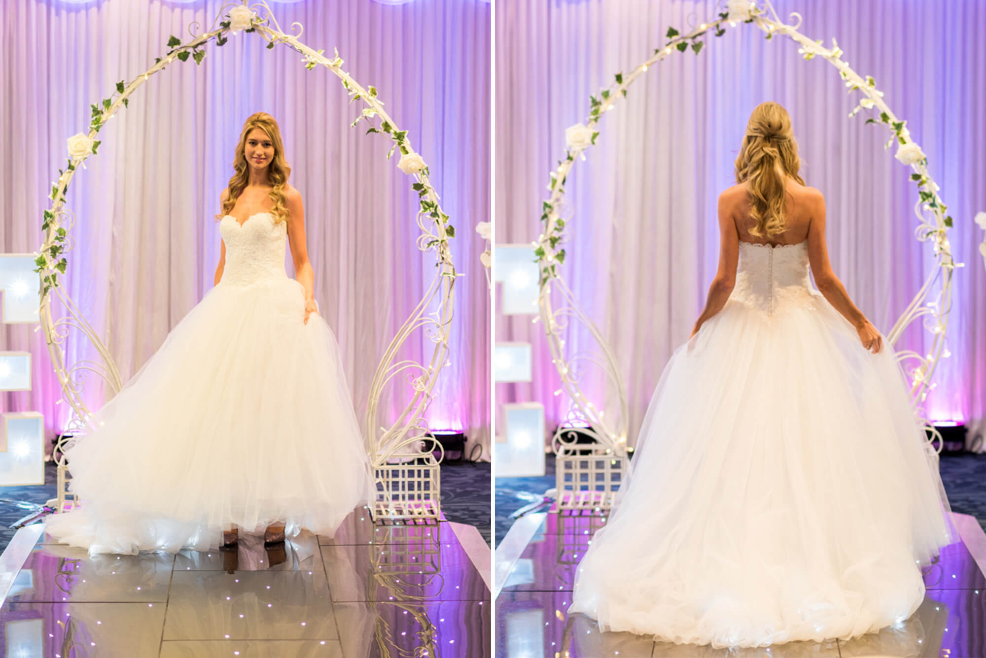 Bride on catwalk at Murrayfield Stadium