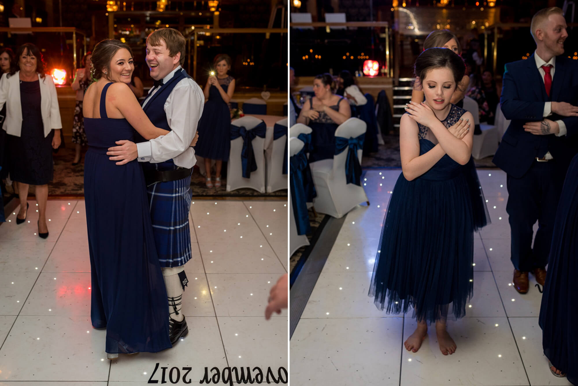 Best man dancing with maid of honour