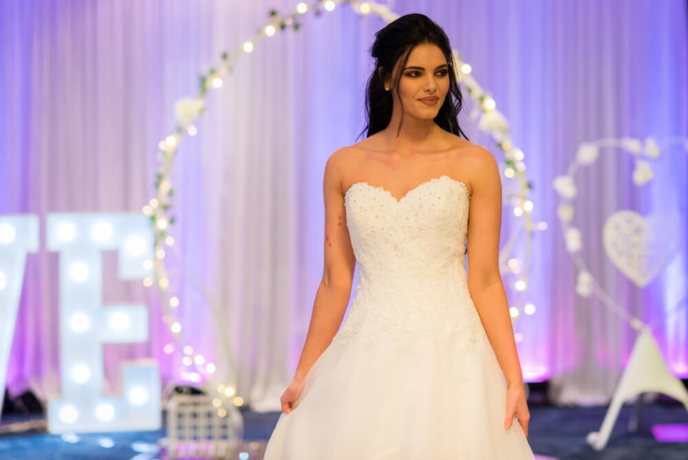 Stunning bride at Edinburgh wedding exhibition
