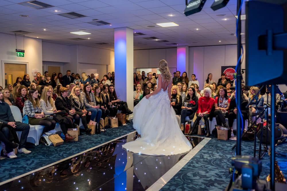 Bries wedding dress at catwalk